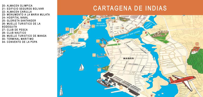 Mapcartagenajpg Voyage Pinterest Cartagena - Cartagena de indias map