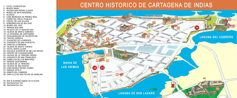 Mapa De Cartagena De Indias Y Los Barrios