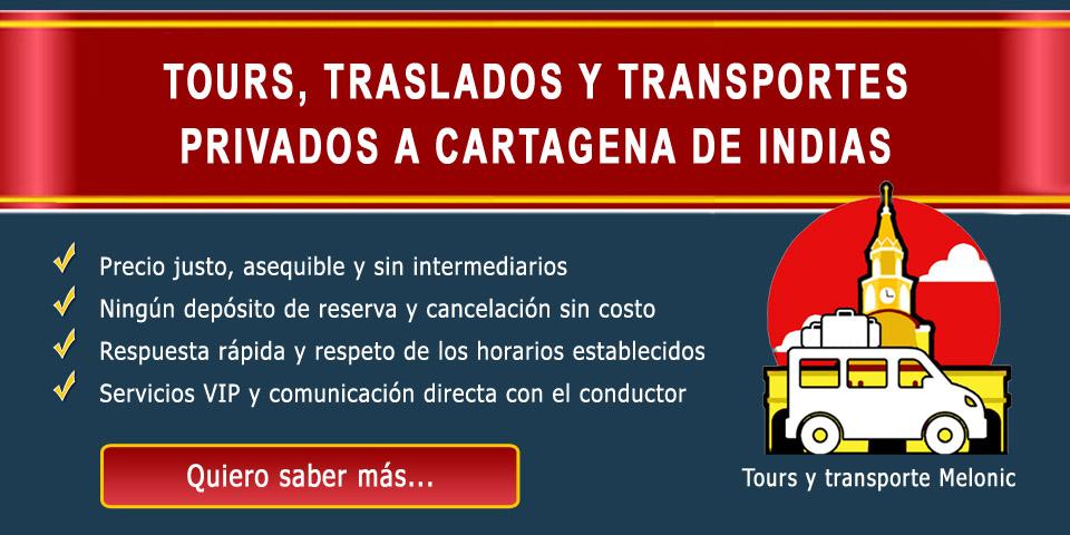Servicios de tours, traslados y transportes en Cartagena