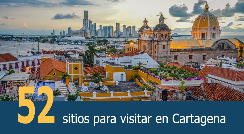 52 sitios a visitar en Cartagena