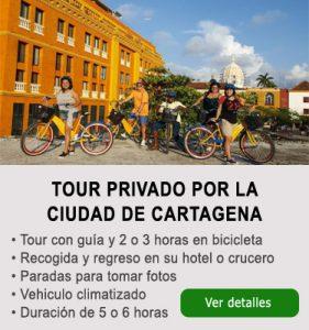 Tour de ciudad de Cartagena en bicicleta