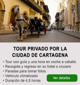 Tour de ciudad de Cartagena en coche a caballo