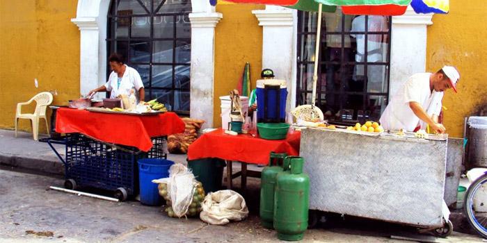 Comida calleja Cartagena
