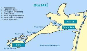 Mapa isla Baru