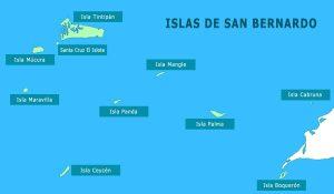 Mapa Islas de San Bernardo