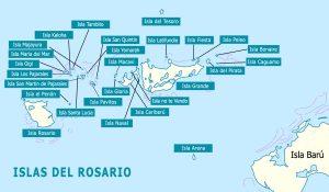 Mapa islas del Rosario