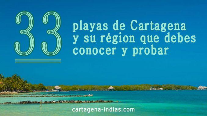 33 playas de Cartagena