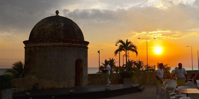Atardecer Baluarte San Francisco Cartagena