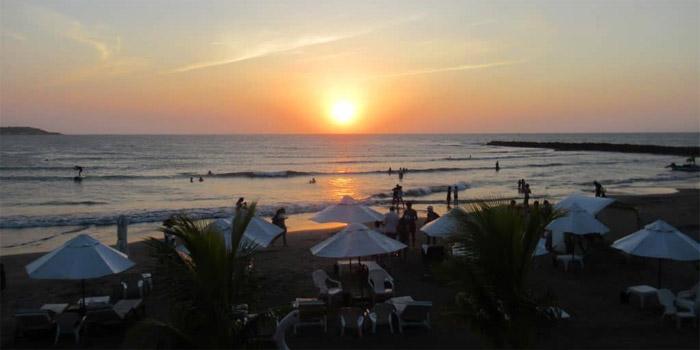 Atardecer el muelle Cartagena