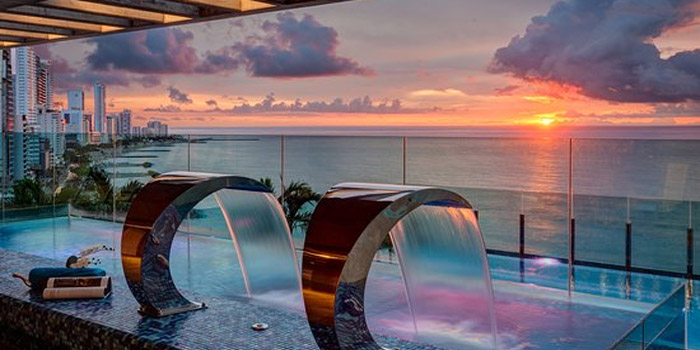 Atardecer Sky Bar Hotel Estelar Cartagena
